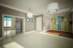 Interior room empty in modern style Royalty Free Stock Photos