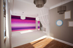 Interior room empty in modern style Stock Images
