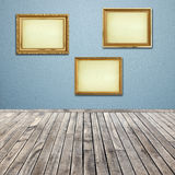 Interior room with empty picture frame Royalty Free Stock Image