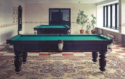 The interior of the room for a game of Billiards royalty free stock photo