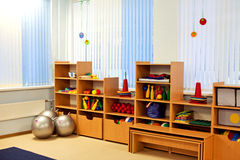 Interior of room in a  kindergarten Stock Images