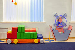 Interior of room in a  kindergarten Royalty Free Stock Photo