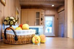 Interior room kitchen apples Stock Photos