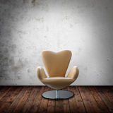 Interior room with leather chair Stock Images