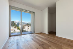 Interior, room with parquet floor Royalty Free Stock Image