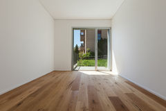 Interior, room with parquet floor Royalty Free Stock Photos