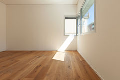 Interior, room with parquet floor Stock Images
