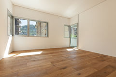 Interior, room with parquet floor Stock Photography
