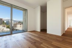 Interior, room with parquet floor Royalty Free Stock Images