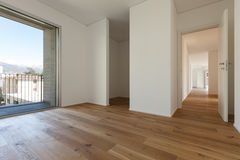 Interior, room with parquet floor Royalty Free Stock Photography