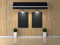 Interior room with picture royalty free stock photos