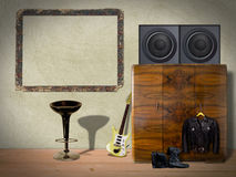 Interior Room with Picture Frame Royalty Free Stock Photography