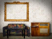 Interior Room with Picture Frame Royalty Free Stock Photos