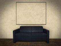 Interior Room with Picture Frame Royalty Free Stock Images