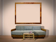 Interior Room with Picture Frame Royalty Free Stock Photo