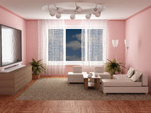 Interior of a room of rest. 3D image Royalty Free Stock Photo