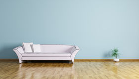 Interior of a room with sofa 3d render Stock Image
