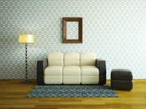 Interior room with sofa Royalty Free Stock Photo
