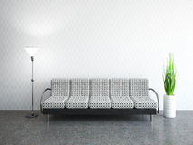 Interior room with sofa Stock Photography