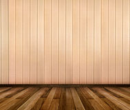 Interior of room with striped wallpaper and gold wooden frames Royalty Free Stock Photos