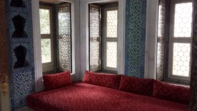 Interior room in the Topkapi Palace, Istanbul, Turkey Royalty Free Stock Images
