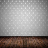 Interior room with wall paper Royalty Free Stock Photos