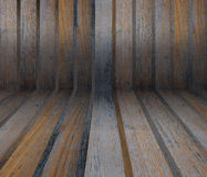 Interior room with wooden tiles. Texture background Stock Photos