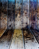 Interior room with wooden tiles Stock Images