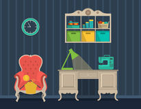 Interior rooms for crafts. Flat design. Stock Photography