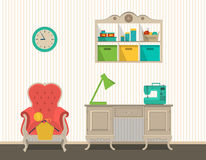 Interior rooms for crafts. Flat design. Royalty Free Stock Photography