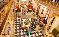 Interior of the rooms inside museum Stock Images
