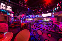 The interior of the rooms of the nightclub Pacha Royalty Free Stock Photo