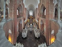 Interior of Roskilde Cathedral, Denmark Stock Image
