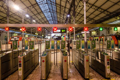Interior of Rossio Railway Station in Lisbon, Portugal Stock Image