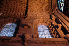 Interior Of Rosslyn Chapel, Scotland Stock Images