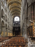 Interior of Rouen Cathedral Royalty Free Stock Photography
