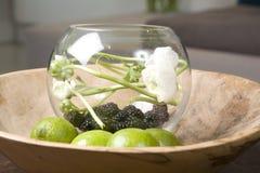 Interior round fruit bowl Royalty Free Stock Photo