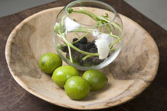 Interior round fruit bowl Stock Images