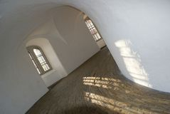 Interior of the Round Tower in Copenhagen. Round Tower (Rundturm) in Copenhagen, Denmark - historic observatory (famous not only due to Tycho de Brahe), now Royalty Free Stock Photography