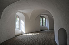 Interior of Round Tower in Copenhagen, Denmark Royalty Free Stock Images