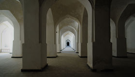 Moslem interior with rows of columns Stock Photo