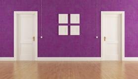 Interior roxo Imagem de Stock
