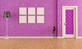 Interior roxo clássico vazio Fotos de Stock