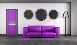 Interior roxo moderno Foto de Stock
