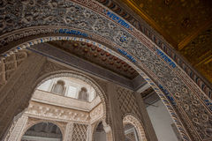 Interior of Royal Alcazars of Seville, Spain Stock Image