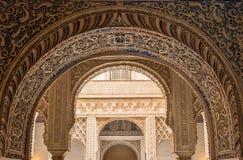 Interior of Royal Alcazars of Seville, Spain Royalty Free Stock Photos