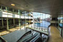 Interior of the Royal Library, also known as The Black Diamond in Copenhagen Royalty Free Stock Photos