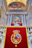 Interior of Royal Palace of Madrid, Spain stock photos
