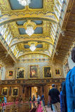 Interior of  royal palace in Medieval Windsor Castle. UK Stock Image