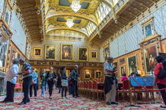 Interior of  royal palace in Medieval Windsor Castle. UK Stock Photos